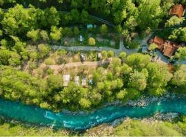 Fiume Isonzo visto dall'alto
