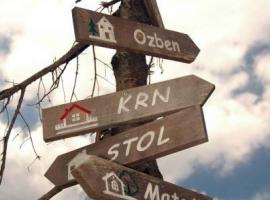 Cartelli stradali per il Monte Nero, Krn in sloveno