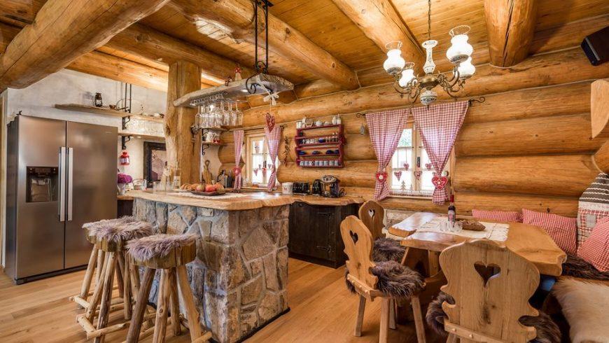 cucina dell'eco-chalet in croazia