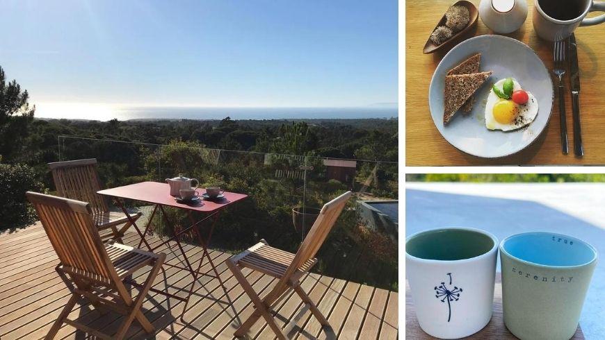 Pranzo all'aperto a Villa Epicurea