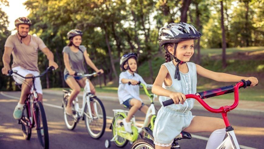 usare la bicicletta è divertente