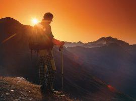 Mallnitz, tramonto dalla cima