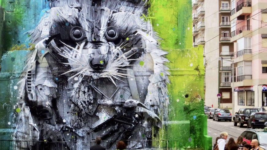 Arte di strada a Lisbona. Vai oltre il centro città, foto di learnportugueseinlisbon.com