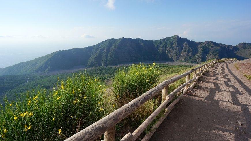 percorso sul monte vesuvio