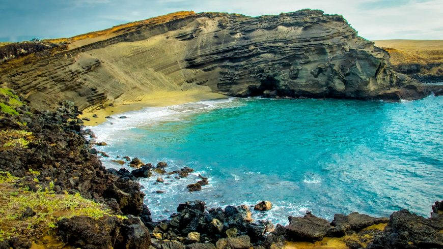 green sand - coloured beaches in hawaii