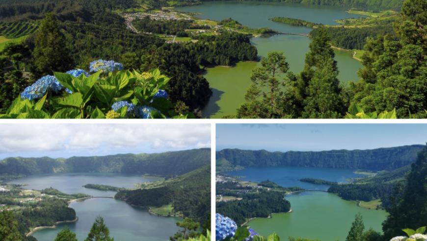 Miradouro Vista do Rei. Photos by azoreantours.com, viator.com and wikimedia.org