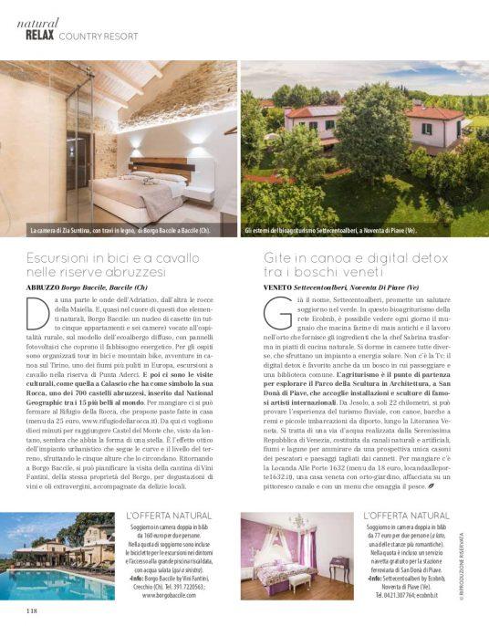 Immagine dell'articolo uscito sulla rivista Natural Style