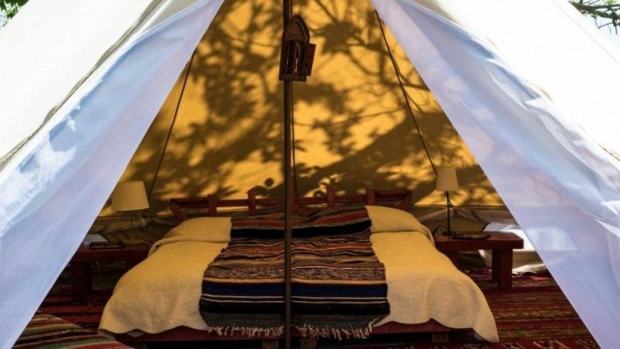 Interno tenda Podere di Maggio