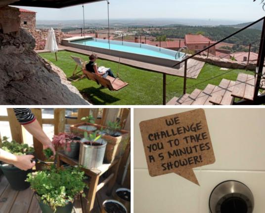 Casa da Cisterna. Impact House. Struttura ricettiva sostenibile.