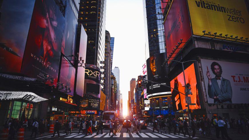 foto di New York, dove il ciclismo ha numerosi vantaggi e svantaggi
