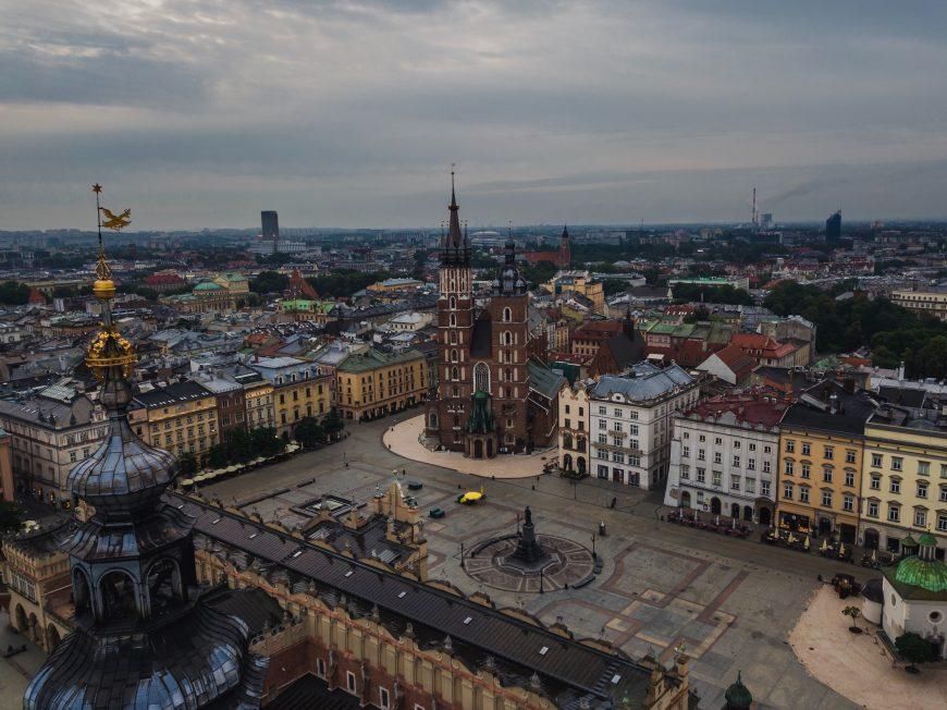 Rynek Główny, sosta lungo la via dell'Ambra