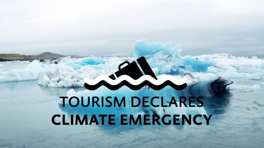 il turismo dichiara l'emergenza climatica