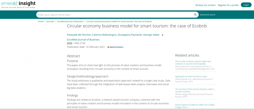 Ecobnb su Emerald Insight