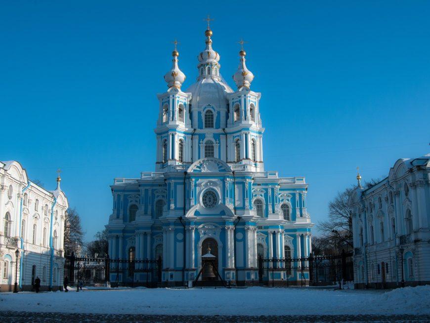vista della Cattedrale di Smolnyj