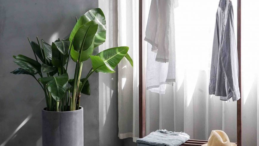 ambiente minimal, in linea con i consigli eco-friendly di shopping