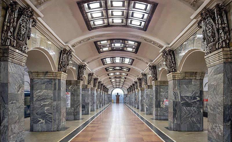 Kirovskij Zavod, una delle più belle stazioni metro di san pietroburgo