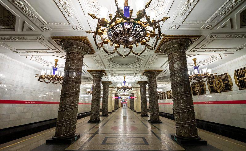 Avtovo, la prima tra le più belle stazioni metro di san pietroburgo