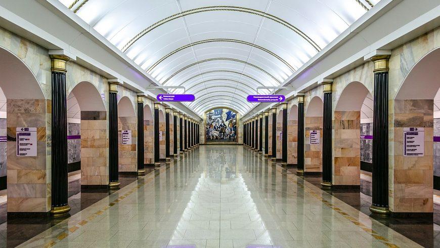 Admiraltejskaja, la più profonda tra le stazioni metro di san pietroburgo