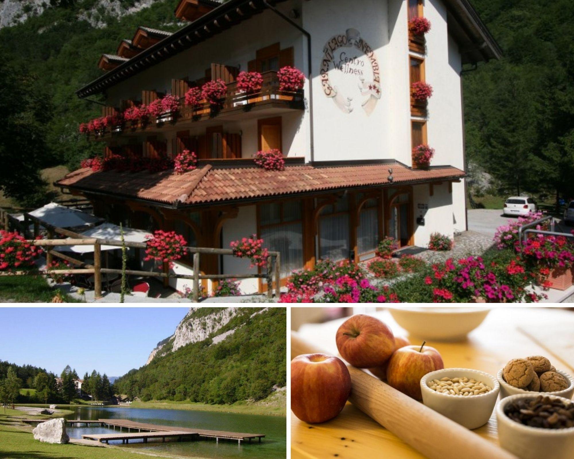 uno dei fantastici hotel sui laghi, Garni lago Nembia