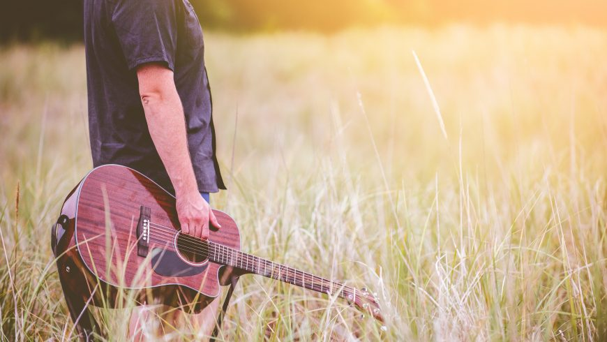 suoni di chitarra nella natura