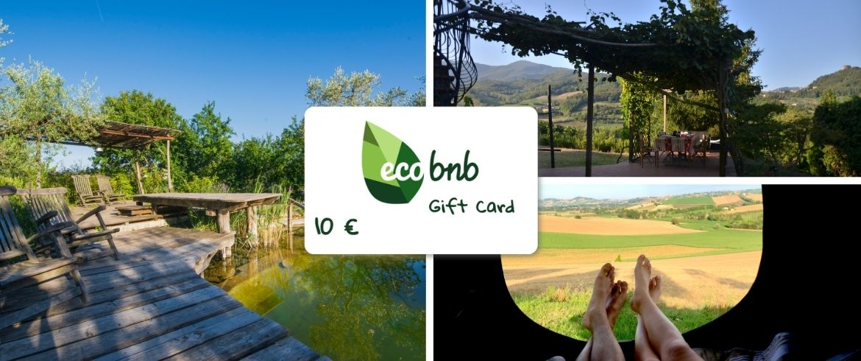soggiorno nella natura con le giftcard di ecobnb