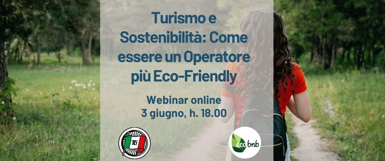 turismo e sostenibilità, webinar touring club