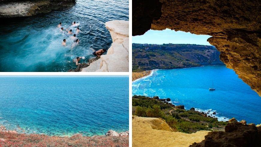 diverse spiagge di Gozo