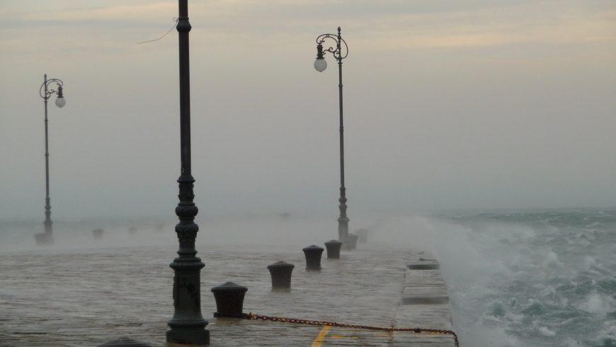Bora al Molo Audace a Trieste