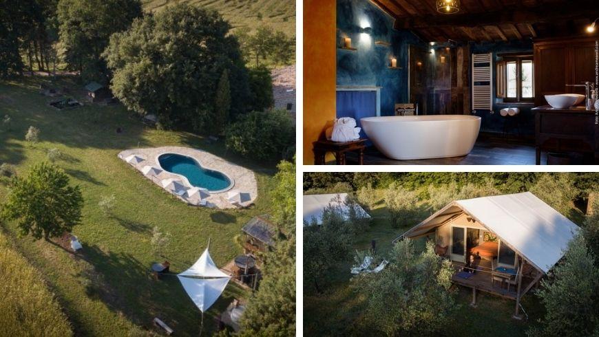 immagini della struttura Sant'Egle, del bagno e della loro piscina
