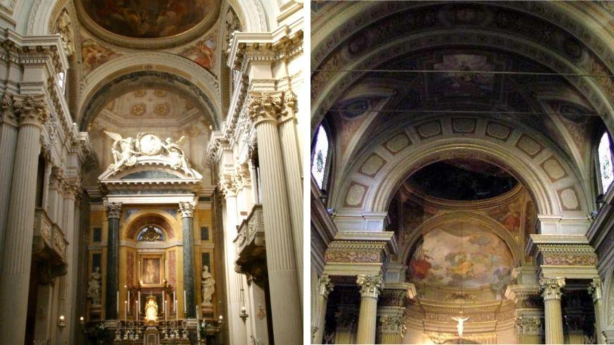 Diverse arcate della chiesa Santa Maria Maddalena