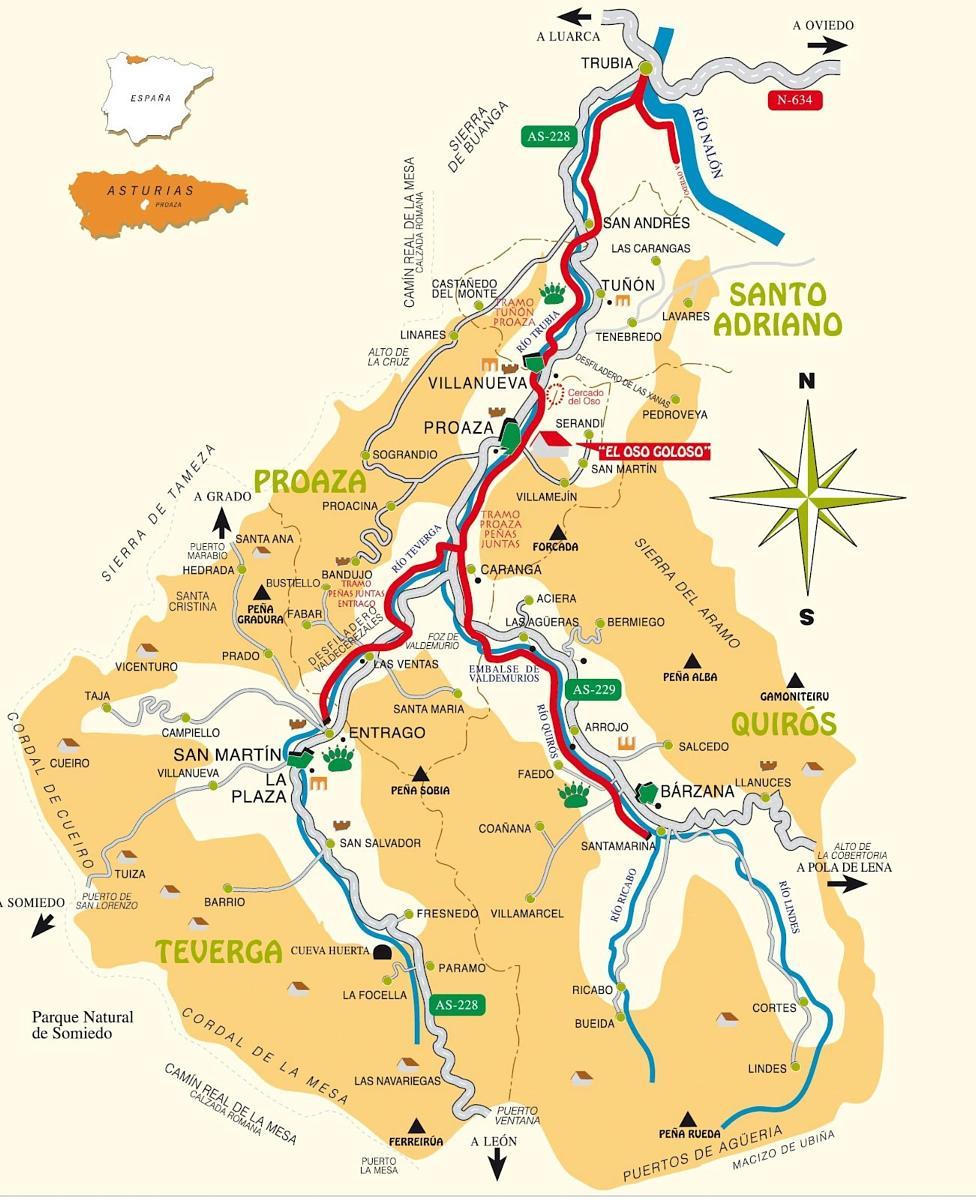 Sentiero dell'Orso Asturie Mappa