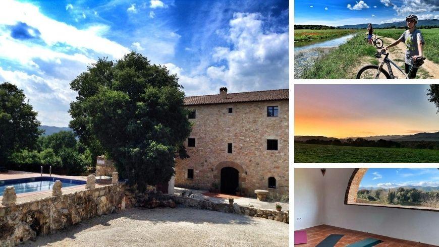 Diverse immagini dell'hotel Mas Pelegri a Girona