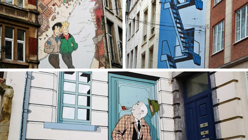 Fumetti a Bruxelles. Foto di allarremviaggio.com