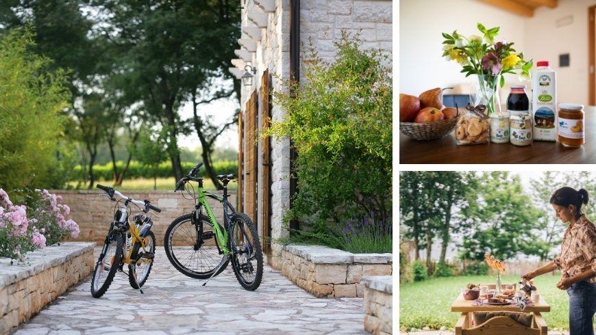 BnB con biciclette e prodotti locali