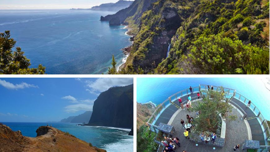 Miradouros, Madeira. Foto di visitmadeira.pt e pinterest.pt