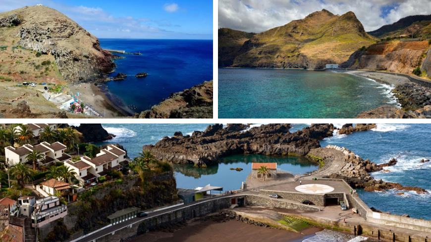 Spiagge di Madeira. Foto di almadeviajante.com, feriasemportugal.com, visitmadeira.pt