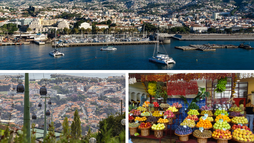 Funchal, Madeira. Foto di Pixabay.com e wikimedia.org