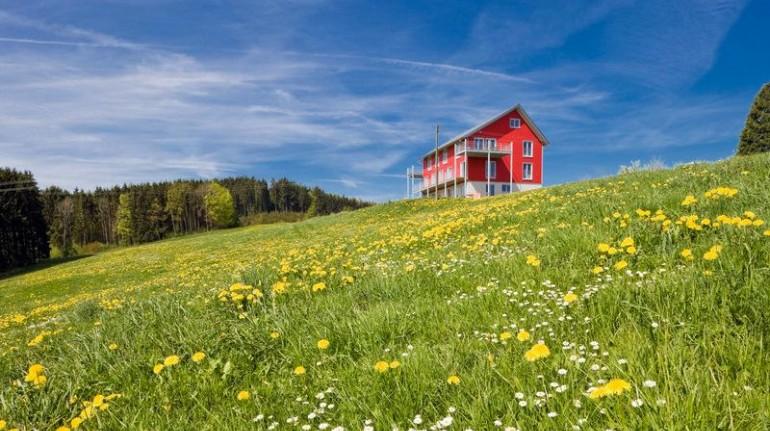 Una fattoria biologica perfetta per le famiglie