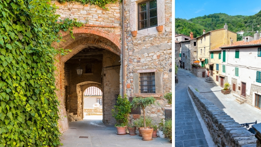 centro storico di sassetta in toscana